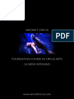 AirCraft Circus Foundation Course in Circus Arts Prospectus 2018