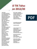 REMIDI TIK KELAS XI IPS TAHUN PELAJARAN 2012/2013
