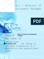 15.1 History of Evolutionary Thought
