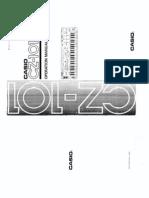 Casio CZ101 Manual