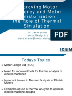 ICEM 2012 - TUT3 - Improving Motor Effiency and Motor Miniaturisation - The Role of Thermal Simulation