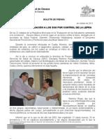 01/10/12 Germán Tenorio Vasconcelos RECONOCE FEDERACIÓN A SSO POR CONTROL DE LA LEPRA