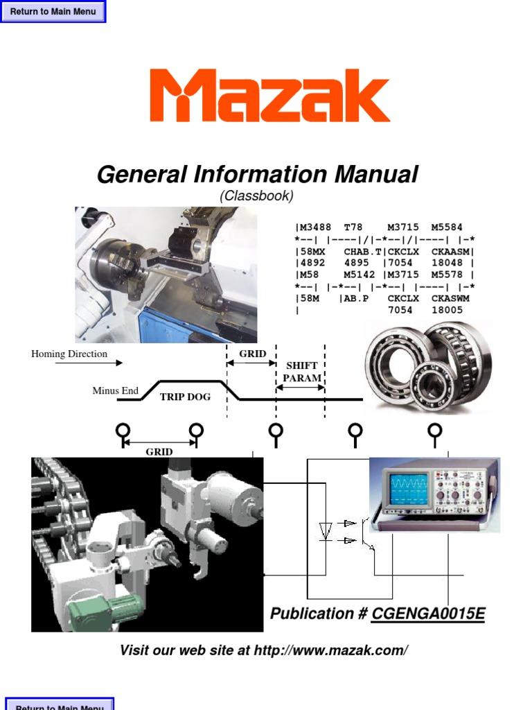 Mazak General Information Manual - CGENGA0015E.pdf   Transformer   Switch