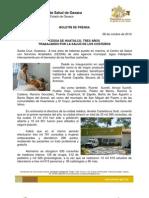 08/10/12 Germán Tenorio Vasconcelos CESSA HUATULCO, TRES AÑOS TRABAJANDO POR LA SALUD DE LOS COSTEÑOS