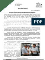 31/10/12 Germán Tenorio Vasconcelos asegura Sso 296 Productos Milagro en La Entidad