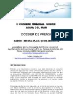 Cumbre Agua de Mar Dossier Prensa
