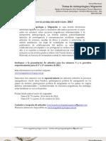 flyer Convocatoria a publicar - Revista Temas de Antropología y Migración