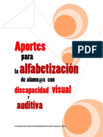 Aportes Alfabetizacion Alumnos Discapacidad Visual y Auditiva FINAL