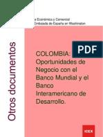 Colombia. Oportunidades de Negocio Con El Banco Mundial y El Banco Interamericano de Desarrollo