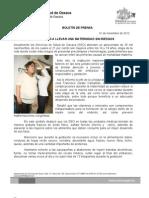 01/11/12 Germán Tenorio Vasconcelos Incentiva Sso a Llevar Una Maternidad Sin Riesgos