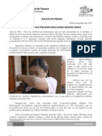 06/11/12 Germán Tenorio Vasconcelos recomienda Sso Prevenir Infecciones Respiratorias