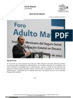 12/11/12 Germán Tenorio Vasconcelos  Inaugura Gtv Primer Foro Del Adulto Mayor