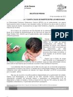 14/11/12 Germán Tenorio Vasconcelos EPOC, ENTRE LA SEXTA Y CUARTA CAUSA DE MUERTE EN MÉXICO