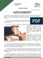 19/11/12 Germán Tenorio Vasconcelos Cinco Gotas de Sangre Detecta Los Defectos Al Nacimiento