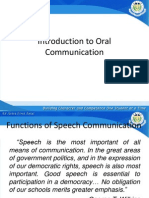 Introduction to Oral Communication