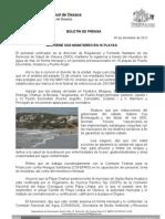 05/12/12 Germán Tenorio Vasconcelos mantiene Sso Monitoreo en 16 Playas