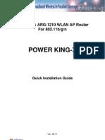ARGtek ARG-1210 QIG