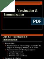 Unit 17 Vaccination & Immunization