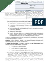 P-03 No Conformidades, Acciones Correctivas, y Preventivas