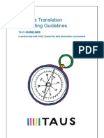 TAUS Machine Translation Post-editing Guidelines