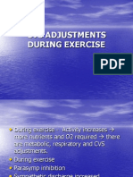Cvs Adjustments During Exercise by Dr Sadia Zafar