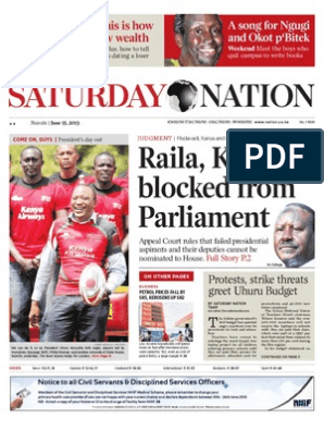 Daily Nation Saturday 15th June 2013 | Excise | Kenya