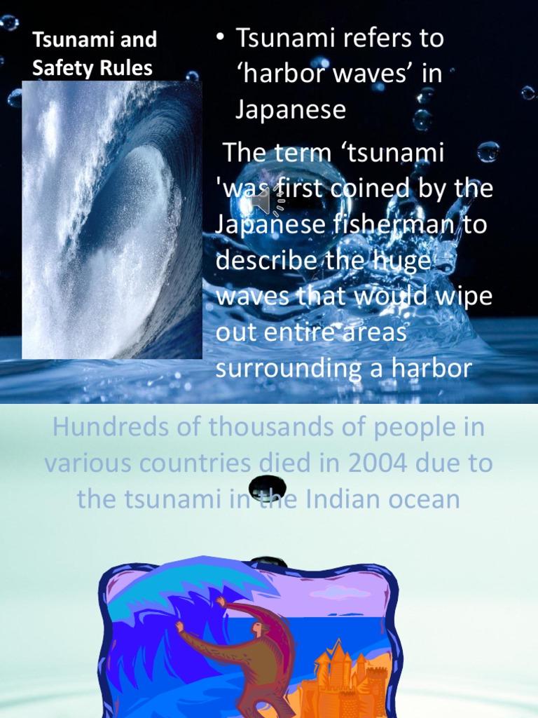 tsunami and safety pptx tsunami earthquakes
