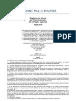 40. Regolamento Interno Consiglio Valle d'Aosta 14.07.2010 - Titolo 6 - Capo 1