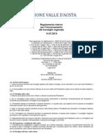 41. Regolamento Interno Consiglio Valle d'Aosta 14.07.2010 - Titolo 6 - Capo 2