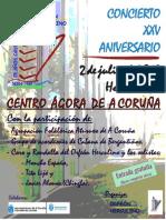 Orfeón Herculino - cartel aniversario (din A4)