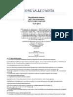 42. Regolamento Interno Consiglio Valle d'Aosta 14.07.2010 - Titolo 6 - Capo 3