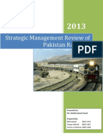 A Strategic Management Review of Pakistan Railways