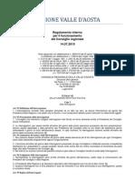 44. Regolamento Interno Consiglio Valle d'Aosta 14.07.2010 - Titolo 7 - Capo 1