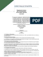 45. Regolamento Interno Consiglio Valle d'Aosta 14.07.2010 - Titolo 7 - Capo 2