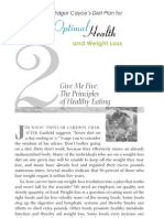 Edgar Cayce Diet Plan Sample Chapter