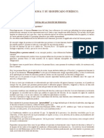 LA PERSONA Y SU SIGNIFICADO JURÍDICO -INTRODUCCIÓN AL DERECHO
