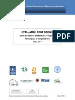 Rapport évaluation post-Bingiza Dans les districts de Manakara, Vohipeno, Farafangana et Vangaindrano - Mars 2011
