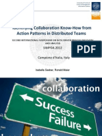 Identifying Collaboration Know-How from Action Patterns in Distributed Teams