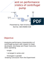 Performance Characteristic of Centrifugal-pump