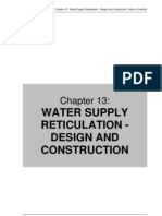 Water Supply Reticulation Design and Construction