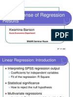 Sense of Regression