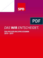 Regierungsprogramm 2013 bis 2017