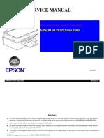 Epson Stylus Scan 2500 Service Manual