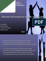 Sistemul informațional specific negocierilor