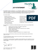 S- Marketing WorkPac Corporate Website Policies NEW Quality Policy Statement