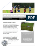 Grand Rapids White Lightning Newsletter First Edition