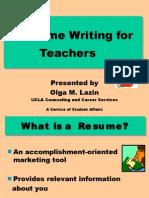 CVresumewriting forlecturer