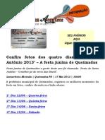 Confira fotos dos quatro dias do 'Santo Antônio 2013' – A festa junina de Queimadas