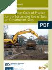 DEFRA CoP Soil Use on Construction Sites