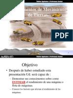 Movimiento de Tierras-Redimiento, Costo Disponibilidad_Aplicado Mas a Mineria